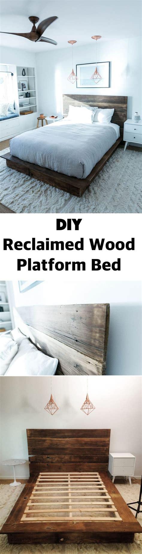 Reclaimed Wood Platform Bed Diy 25 Best Ideas About Pallet Platform Bed On
