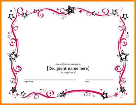8 free printable blank certificate templates sle of