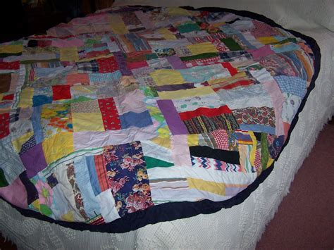 Patchwork Tablecloths - patchwork tablecloth 77 inches handmade vintage
