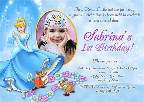 cinderella birthday invitation card template birthday invitation cards cinderella birthday invitations