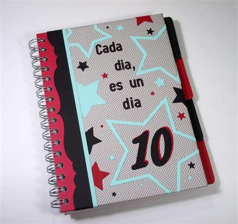 cuadernos decorados de tela un cuaderno decorado la pareja creativa