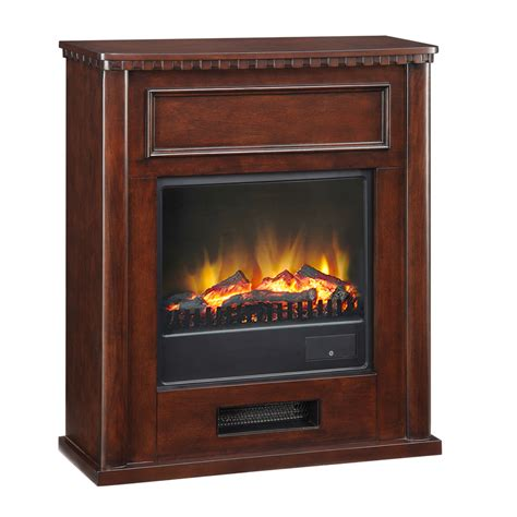 shop pleasant hearth 28 in w 4 600 btu merlot wood fan