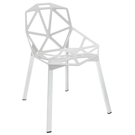 connections ultra modern stylish dining side chair white