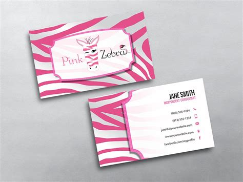 pink zebra business card template free pink zebra business cards free shipping