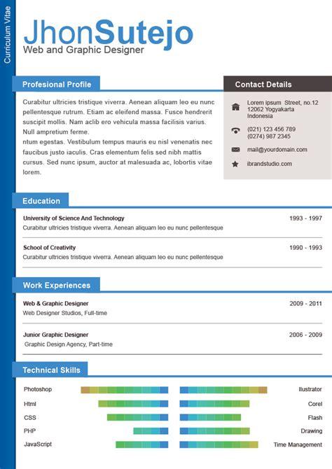 format cv menarik gratis one page resume resume badak