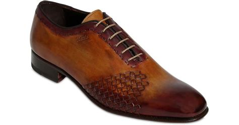 handmade oxford shoes harris handmade woven leather oxford shoes in brown for