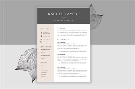 Resume Template Cover Letter Resume Templates On Creative Market Creative Letter Templates