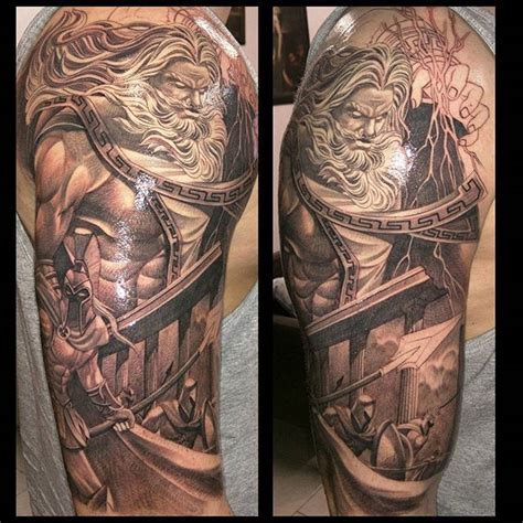 zeus tattoos sleeves or sleeve tattoos generally consist of