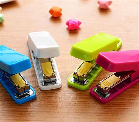 Set Stapler Staples Mini Isi No 10 mini stapler set staples mini style color stapler greador kawaii stationery office