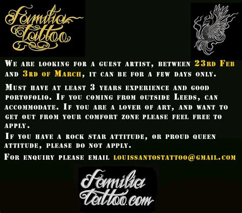 tattoo artist wanted leeds tattoo artist in leeds archives page 6 of 18 leeds