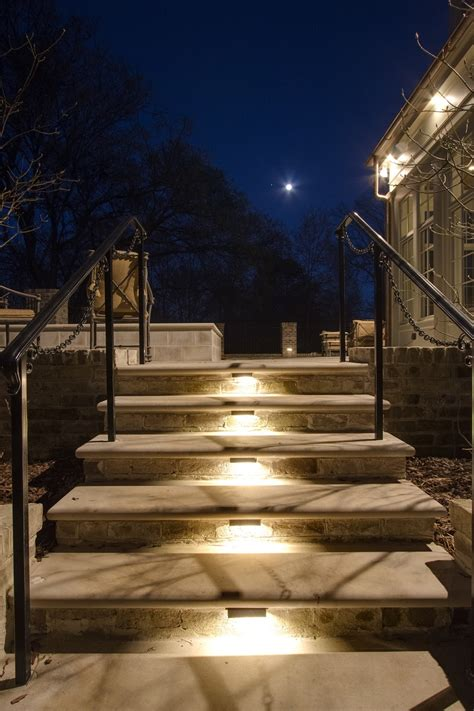 Outdoor Lighting Stairs Louisville Outdoor Steps Stairs And Landscape Lighting Adds Dramatic Safety