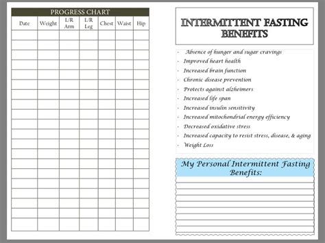 intermittent fasting schedule intermittent fasting diet and fitness planner