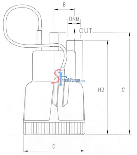 Pompa Celup 200 Watt pompa celup 200 watt dp 40g sentral pompa solusi pompa