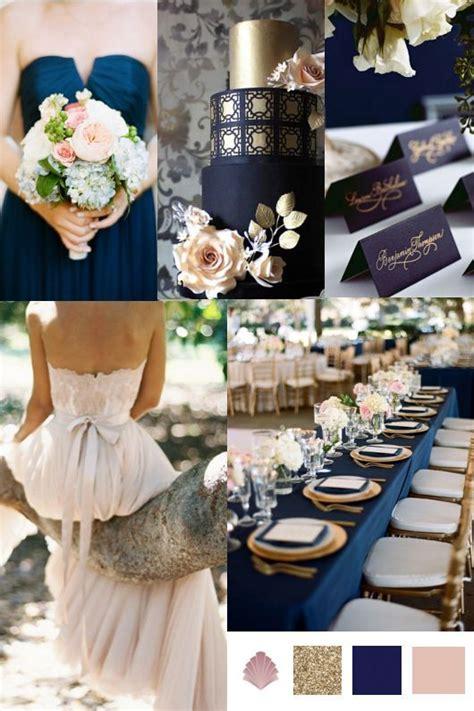 wedding theme navy gold antique blush vintage styler wedding color palettes