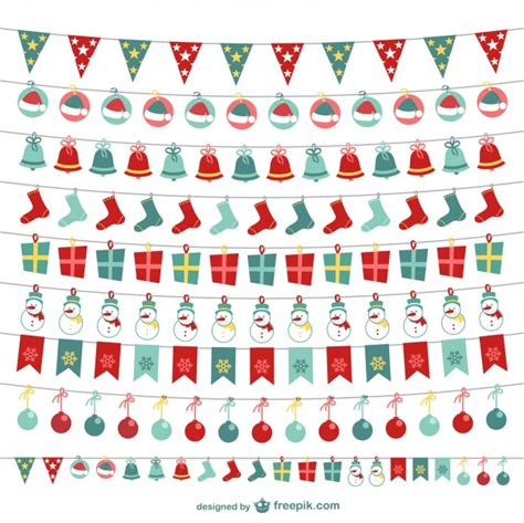 Banner Flag Natal Bunting Flag Merry Murah bunting collection vector free