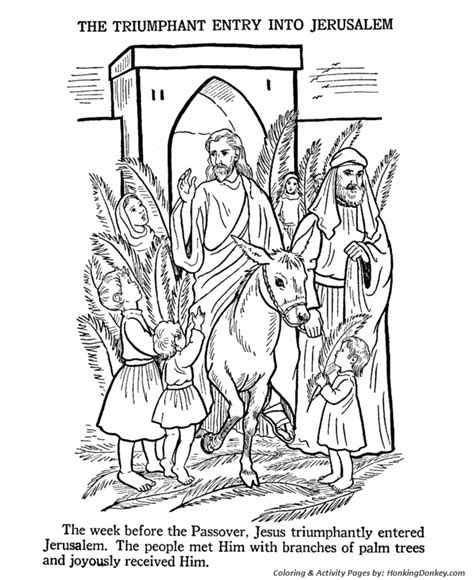 bible coloring pages for easter easter bible coloring pages jesus enters jerusalem