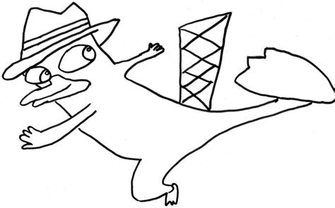 perry the platypus pictures az coloring pages