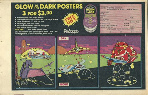 glow in the dark posters 1985 pineapple kids club glow in the dark poster offer