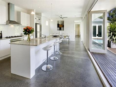 polished concrete floors modern polished concrete floors modern white kitchen minimalist