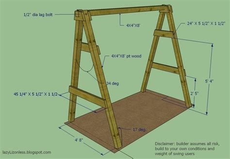 swing set frame only diy a frame plan for swing garden ideas pinterest
