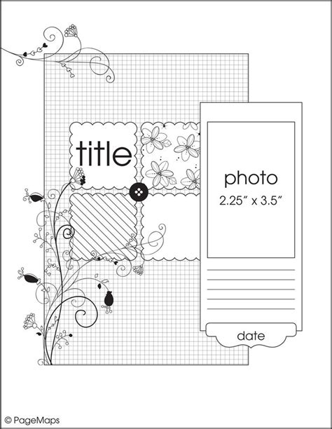 scrapbook layout sketches book 17 best images about scrapbook sketches 8 x 11 on