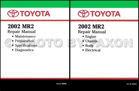 book repair manual 2000 toyota mr2 on board diagnostic system 2002 toyota mr2 wiring diagram manual original