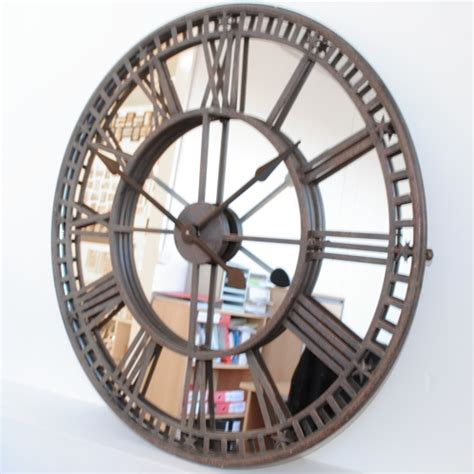 buy uk antique mirror iron skeleton wall clock