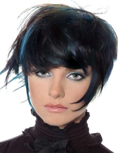 pictures of streaked black hairstyles black hair blue streaks my new hair