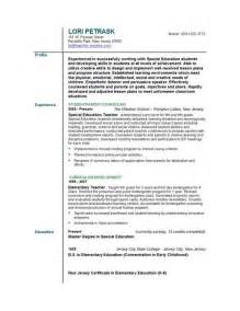Sample Resume Teachers teacher resume templates