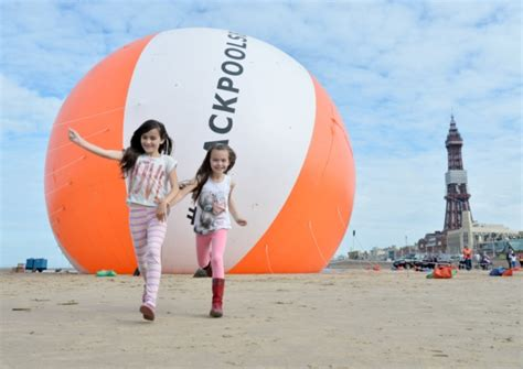 largest beach in the world largest inflatable beach ball blackpool breaks guinness