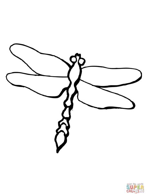 dragonfly coloring pages dragonfly odonta epiprocta coloring page free printable