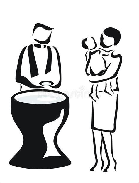 clipart battesimo battesimo illustrazione vettoriale illustrazione di madre