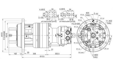 hydraulic slew motor high speed hydraulic slew swing motor sm220 for doosan