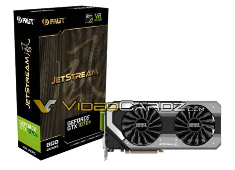 pny 1070 dual fan palit geforce gtx 1070 ti dual fan and jetstream pictured