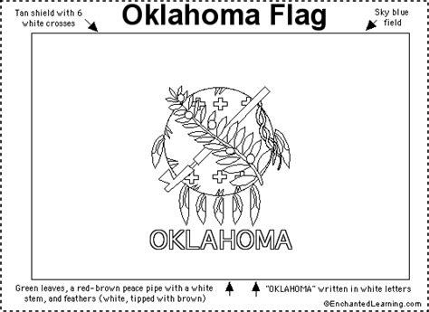 oklahoma flag printout enchantedlearning com