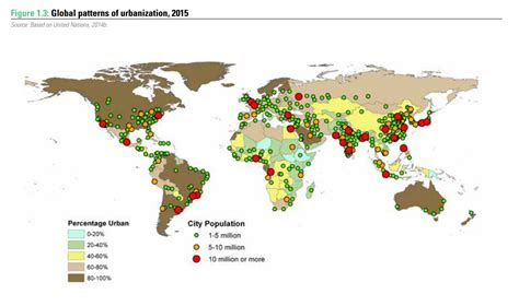 megacities world map this map shows the growth of megacities world