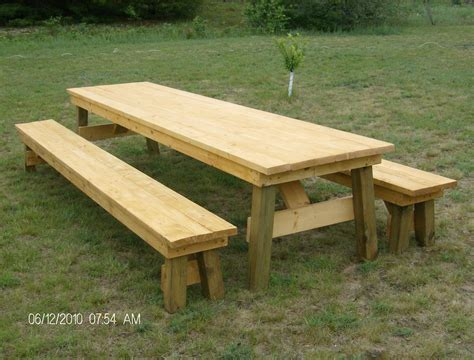 picnic bench table picnic table plans free separate benches quick woodworking projects