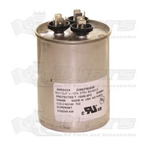rv air conditioner capacitor replacement dometic a c capacitor 50 10 mfd air conditioner parts air conditioners rv appliances