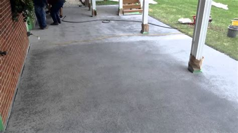 youtube pattern concrete how to sprayed concrete overlay in a slate pattern
