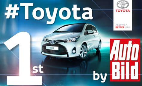 Autobild Quality Report 2015 by Toyota Reliability Awards 2009 Present