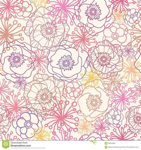 flowers seamless pattern element vector background subtle field flowers seamless pattern background stock