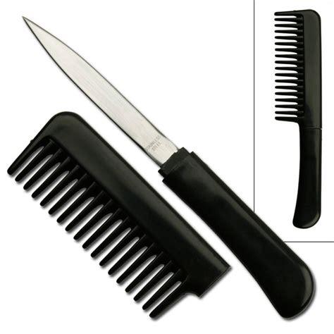 disguised knives black comb with knife