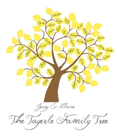 free printable family tree designs printable family tree by littleredscreations on etsy