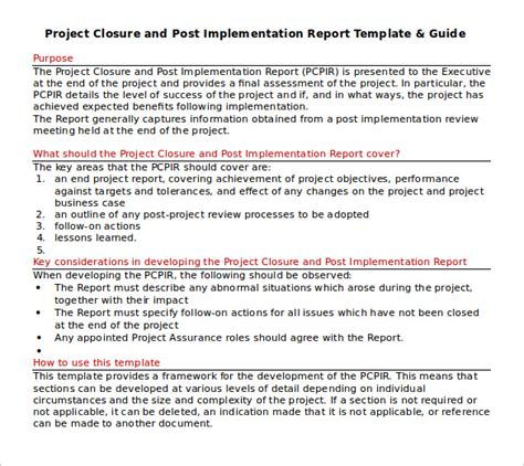 project closing template project closure report template 8 documents in pdf word