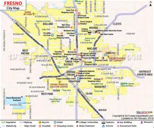 fresno california map california map