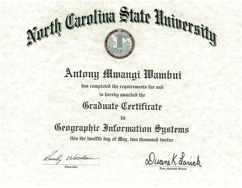Difference Between Mba And Graduate Certificate by Masters Degree Certificate Www Pixshark Images