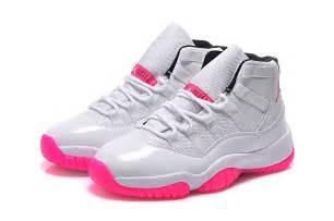 2015 air jordan 11 gs white pink cheap for sale online pink jordans