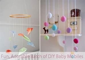 a fun adorable batch of diy baby mobiles