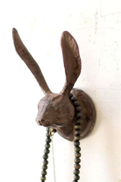 Metal Curtain Tie Backs Cast Iron Wild Hare Wall Hook Rustic