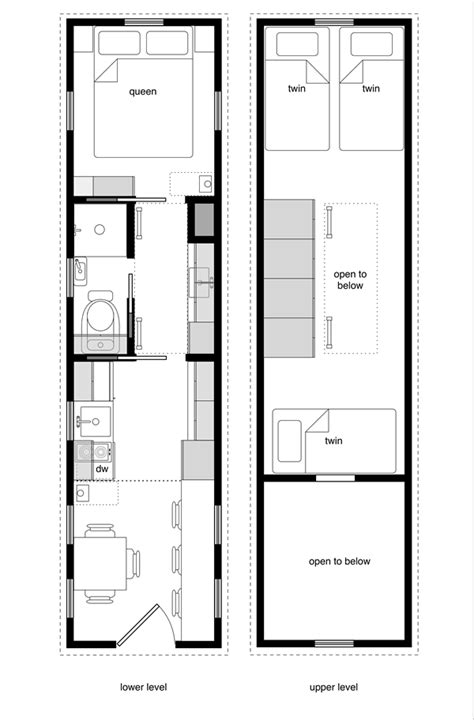 tiny house floor plans with lower level beds tiny house floor plans book tiny house design